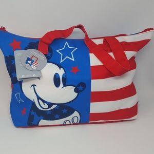 Disney Parks Mickey Americana Tote Stars & Stripes